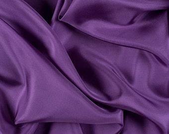 "45"" Wide 100% Silk Habotai Violet Purple-Wholesale by the Yard (2000M155)"