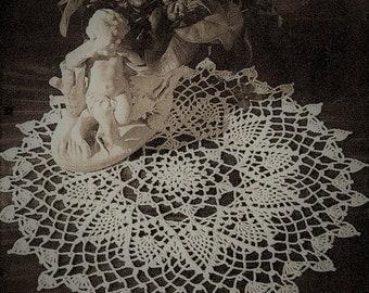 "Vintage Crocheted Doily American Thread "" Eros""  Round Dollie  Crocheting pattern 15 "" Diameter *PDF Instant Download*"