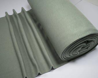 Rib knit fabric plain uni kaki 0.54yd (0.5m) 003634