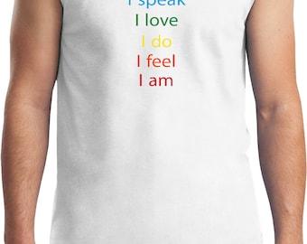 Yoga Clothing For You Mens Shirt Chakra Words Muscle Tee T-Shirt = 2700-CHAKWORDS