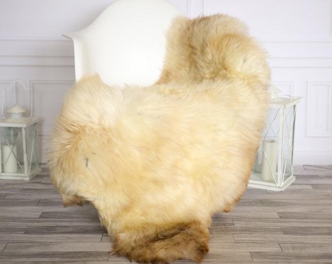 Sheepskin Rug | Real Sheepskin Rug | Shaggy Rug | Chair Cover | Sheepskin Throw | Brown Beige Sheepskin | Home Decor | #HERMAJ35