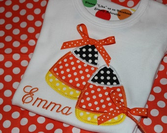 Double candy corn- baby, tshirt, or dress