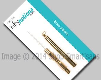 Brass Stiletto Sewing Tool