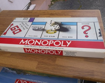 1974 Monopoly game in very good condition. This is a Parker game and has all the pieces except a few houses and hotels has some not all