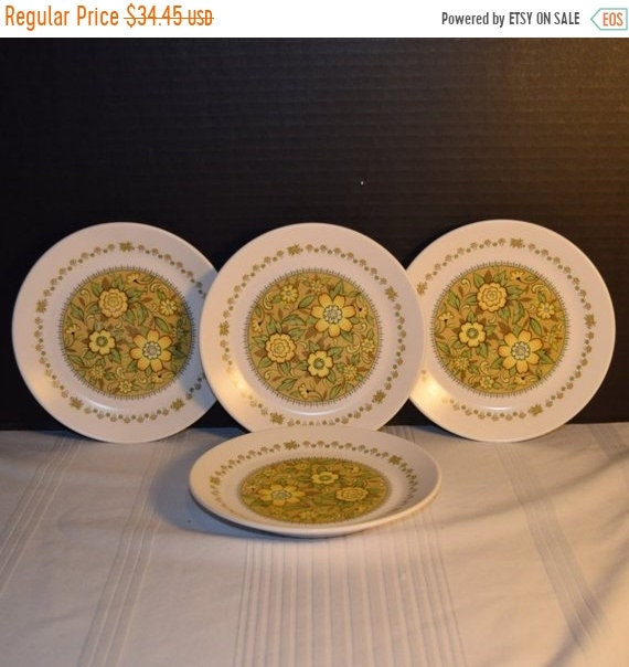 Delayed Shipping Noritake Progression Festival 4 Bread Butter Plates Vintage Set of 4 Plates Hard to Find Rare 1970s Noritake Replacement Di