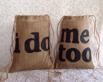 Dollar Dance Bags, Bridal Shower Gift, Bride and Groom, Burlap Wedding Bags, Gifts for the Couple, Rustic Wedding, Barn Wedding, Burlap Bag