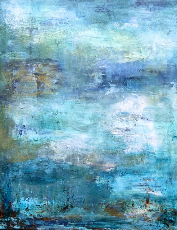 """Abstract Oil painting print """" dreams"""""""