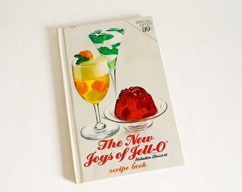 The New Joys of Jell-O Gelatin Recipe Book 1974 Hc VGC, From Salads to Desserts Favorites to Unique Recipes, Vintage 1970s Cookbook