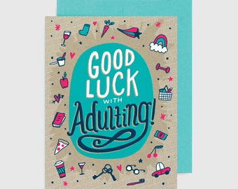 Congratulations Card - Good Luck Adulting