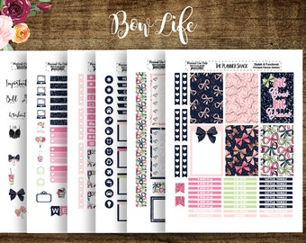 Bow Life | 2018 Big Happy Planner | Printable Planner Stickers | Planner Printables | Big Happy Planner | Bows | Cut Files | Weekly Layout