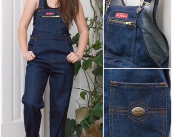 Vintage 60s Dungarees Corduroy Dungarees Womens Small Brown Overalls Oversize Baggy Dungarees Mens XS Retro Corduroy Bibs Pleated Cords XS S yb442hpnHb