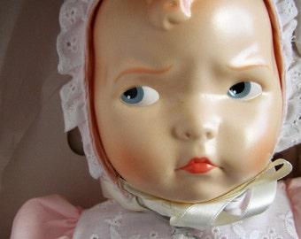 """Baby Grumpy Doll by Effanbee (F&B) Limited Edition Doll Club - in Box -15"""" Tall"""