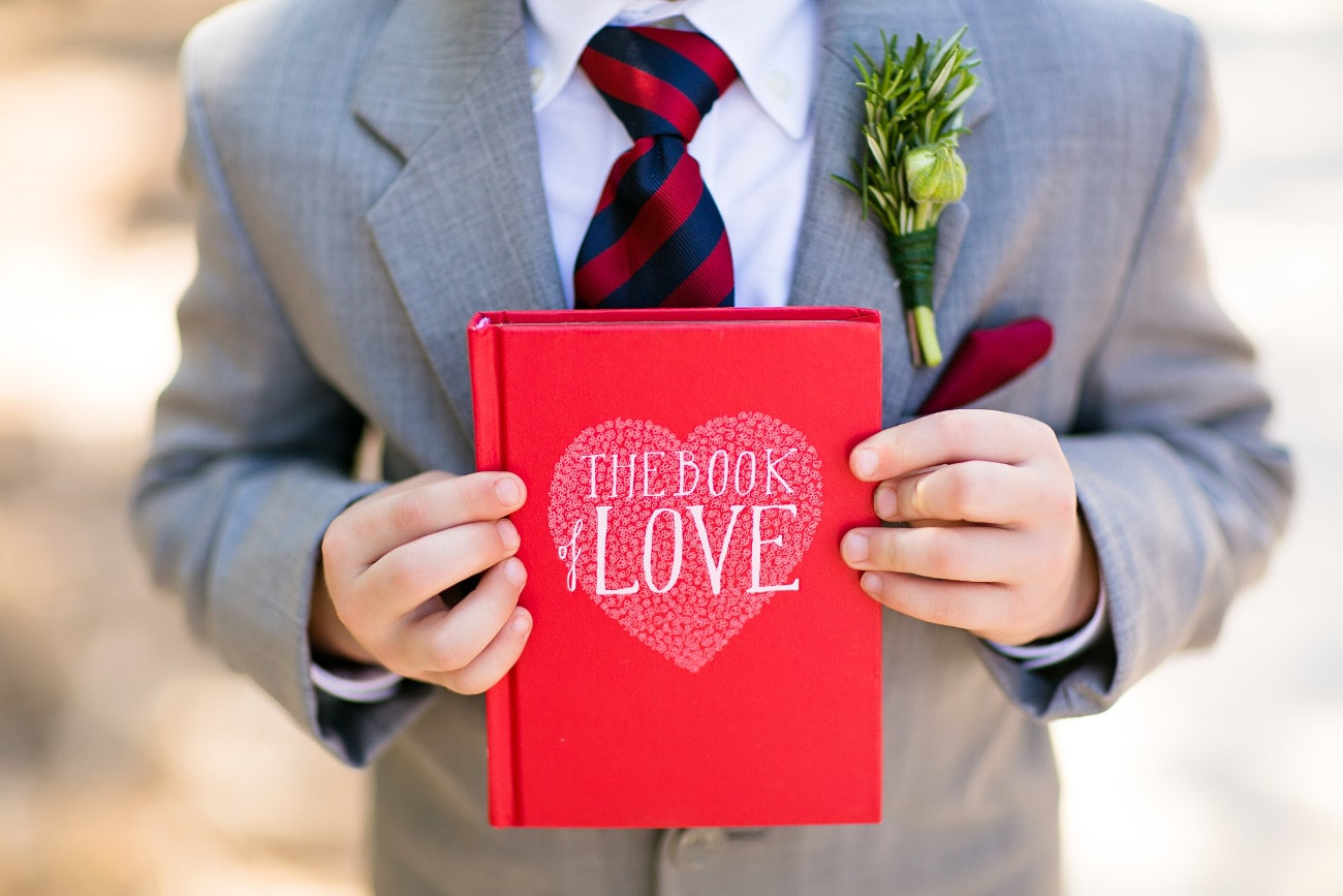 The Book Of Love Engagement Ring Holder Hollow Book Box Heart