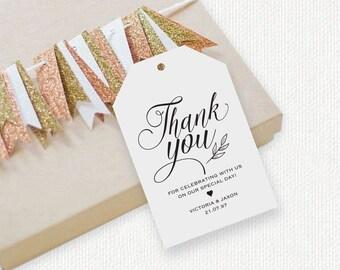 Thank You Tag, Gift Tags, Wedding Thank You Tags, Wedding Favor, Thank You Printable, Favor Tag, DiY Kraft Printable tags, LDS_75