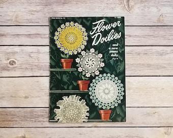Crocheting Flower Doilies Crochet Vintage Doilies Decorative Granny Decor Crochet Projects 1940s Home Look Doily DIY Book Crocheting Project
