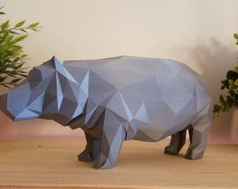 Low-Poly Hippopotamus