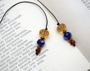 beaded bookmark for book lover gift marker page reading accessories for book accessory of reading gift for mother gift for sister gift idea