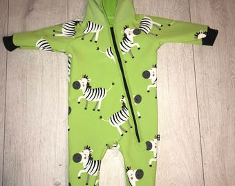 "Windproof softshell jumpsuit/divider ""zebra"""
