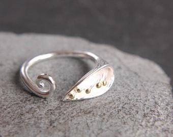 Calla 925 silver dainty flower ring Flower