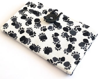 Fabric Card Holder - Paw Prints