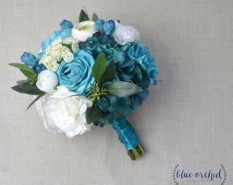 Turquoise bouquet | Etsy
