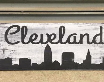 24x6in Cleveland sign