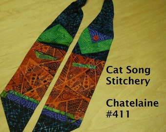 Fabric Chatelaine to hold sewing/ crafting tools so they are always handy- wear like a scarf.  PDF