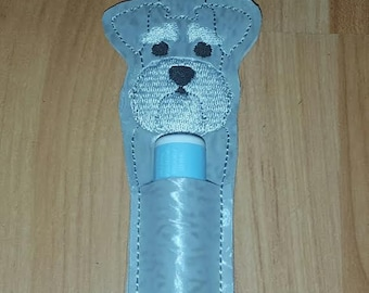 Schnauzer Lip Balm Holder