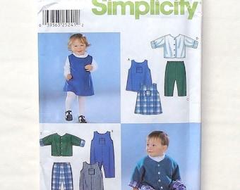 Simplicity Babies Dress, Romper, Pants & Jacket Pattern #9911 - Size XXS(0-7 lbs)+ XS(7-13 lbs)+S(13-18 lbs)+M(18-21 - UNCUT Factory Folded