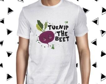Turnip the Beet Cute Vegan Tee Funny Vegan Tshirt Vegan Shirt Vegan Men's T-shirt Veggie T-shirt Plant-based Tee Cute Vegan Shirt Cute Plant