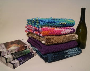 """Hand Knit Scarves: 10"""" x 52"""""""