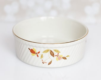 Jewel Tea Autumn Leaf by Hall Pottery baking, souffle, casserole dish