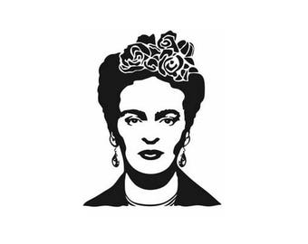 Frida Kahlo Sticker   Frida Kahlo Decal   Frida Kahlo Decor   Frida Kahlo laptop sticker   Frida Kahlo decoration