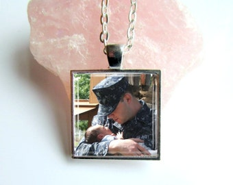 Custom Photo Necklace, Personalized Photo Pendant, Keepsake Jewelry