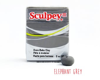 Polymer Clay - Elephant Grey - Sculpey III Oven Bake Modelling Clay