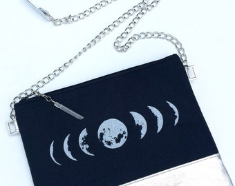 Black Moon Bag, Moon Phase Bag, Black Moon Phase Bag,