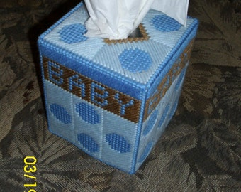 Baby Boy Tissue Box Cover