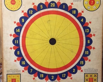 VINTAGE 1950's Ace Whitman Dart Board No. 5322