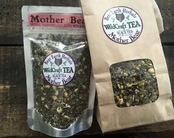 CUSTOM LISTING- 1/2 lb of Mother Bear with Black Tea - Organic Black Tea - Raspberry Leaf Herbal Blend - Chamomile, Jasmine, Mint
