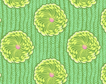 Amy Butler Soul Blossom Lime Green and Yellow Floral cotton Fabric by the yard
