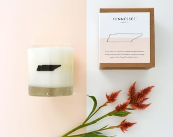 Tennessee State Soy Candle Home Candle Hostess Gift Tennessee Candle Home State Candle Home Decor The Original Scripted Fragrance Candle