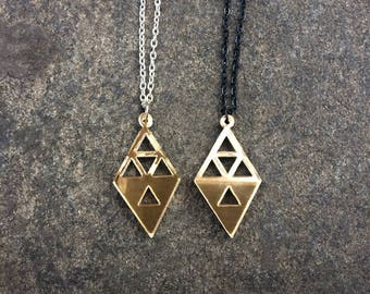 Gold Triforce Necklace