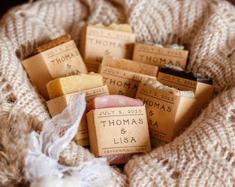 20  shower favors personalized gift wedding favor soap bridal shower baby shower rustic wedding favor homemade guest soap soap shower favors