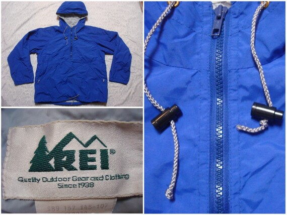 Vintage Retro Men's REI Parka Jacket Blue XLT Full-zip Rain Jacket Hard Shell Windbreaker XL Tall cZ6dVdI