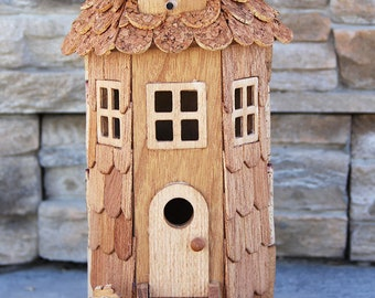 Tower Birdhouse, wine cork art
