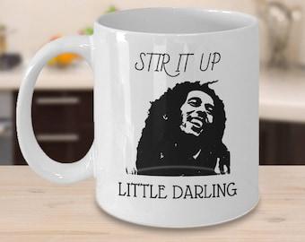 Bob Marley - Stir it Up - Reggae, Marley, Bob Marley Quote, Jamaica Mug, Bob Marley mug, Bob Marley Art ,  Rasta Gifts, Rasta, Caribbean Art