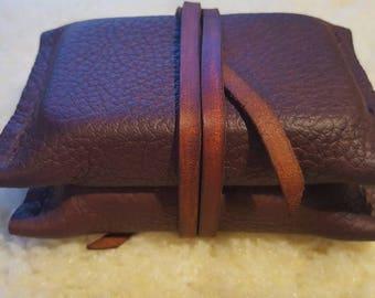 Handmade, waxed buffalo leather/ double altoids tin survival / bushcraft pouch, fire pouch, EDC pouch.