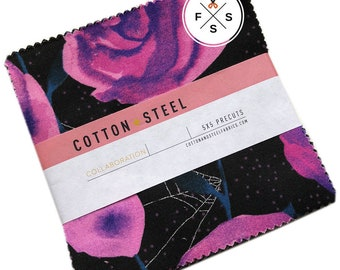 "Cotton + Steel Eclipse Precut 5"" Charm Pack Fabric Quilting Cotton Squares SQ36"