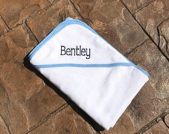 Baby/Toddler  Hooded Bath Towel, Toddler Hooded Towel, Monogrammed Baby Towel, Baby Towel, Personalized baby towel, Pink or Blue