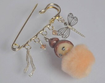 broche collection dmoizelle pompon